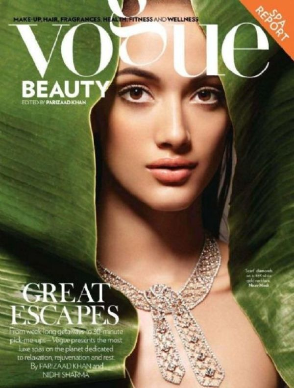 Angela Jonsson on the cover of Vogue magazine