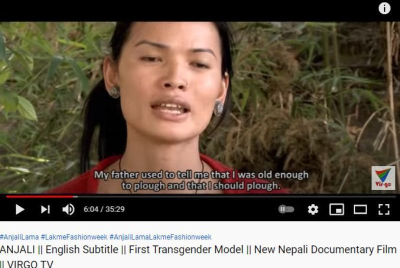 Anjali Lama in the documentary based on her life