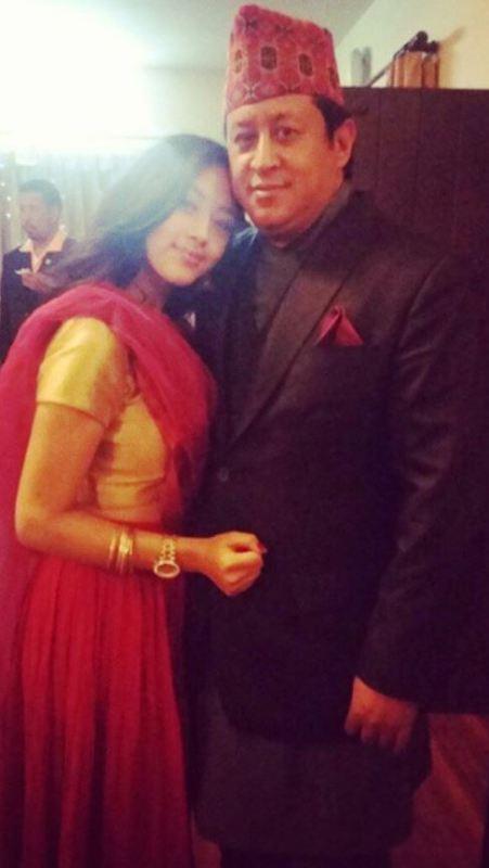 Anna Sharma with her father