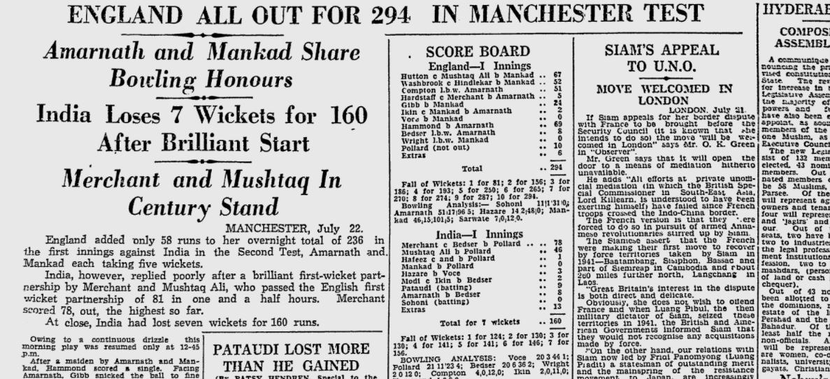 Article in Indian Express on 23 July 1946
