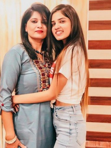 Ashima Chaudhary and her mother