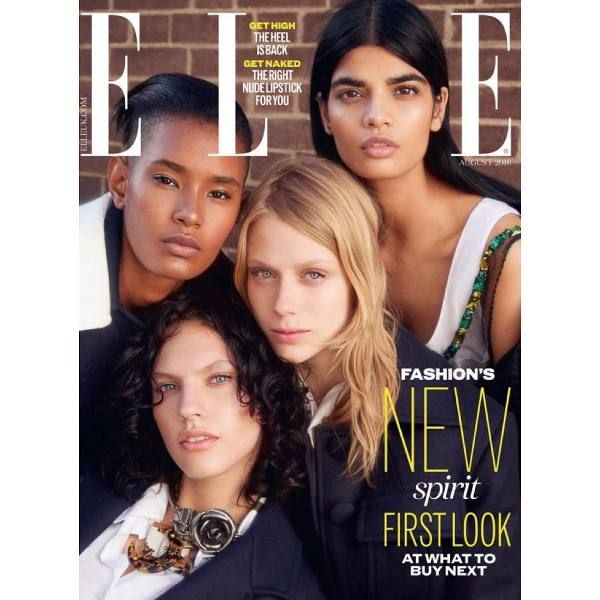 Bhumika on the cover of Elle UK