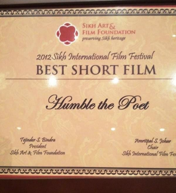 Documentary on Humble The Poet wins Best Short Film in 2012
