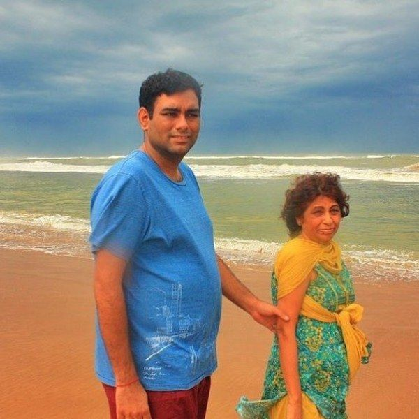 Gaggan Anand with his mother