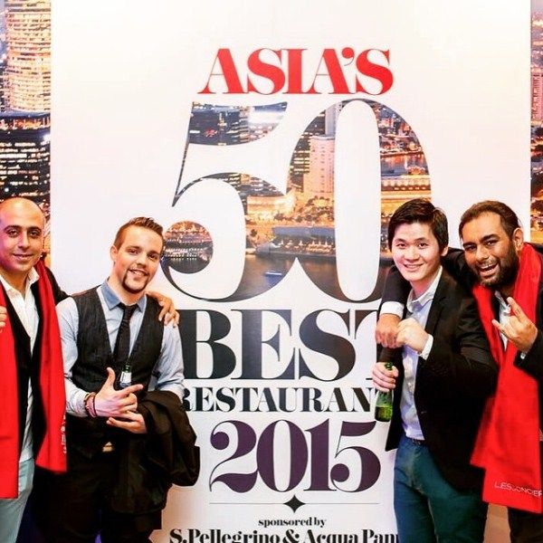 Gaggan Anand with his team at Asia`s Top restaurant award event