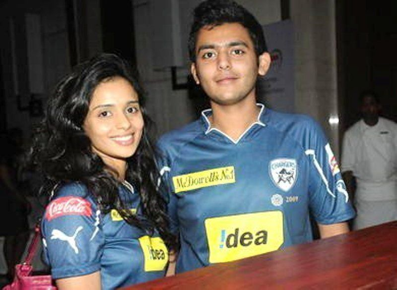 Gayatri Reddy with her brother