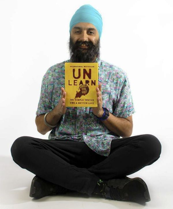 Humble The Poet with his book UnLearn