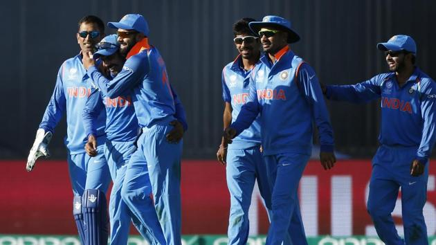 Indian Team after winning the group stage match against Pakistan