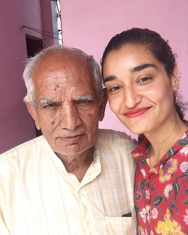 Kanishtha with her grandfather