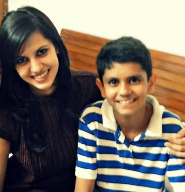 Koyal Rana with her brother