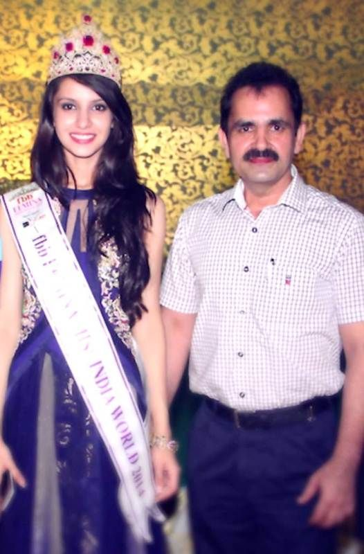 Koyal Rana with her father