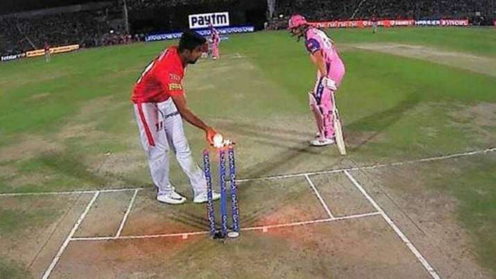 Mankading incident that took place in 2019 in an IPL match between Kings XI Punjab and Rajasthan Royals