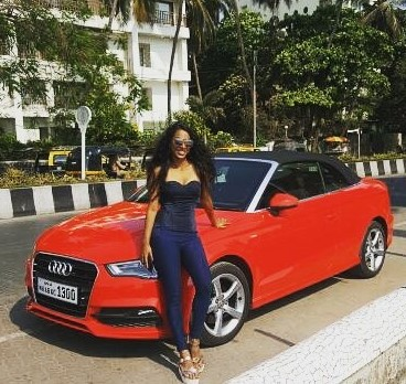 Meenal Shah with her Audi A3 Cabriolet