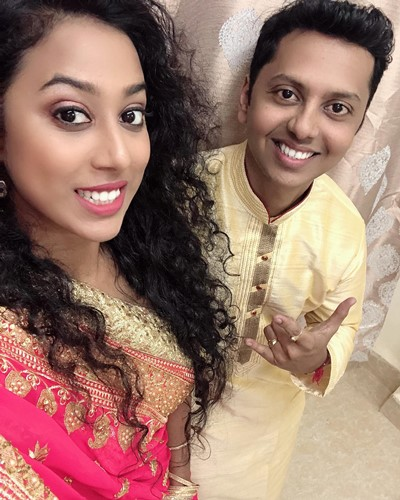 Meenal Shah with her brother Kamlesh Shah