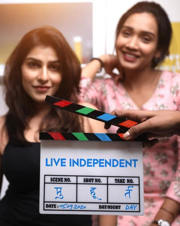 Mira Jagganath for the shoot of the web series 'Live Independent'