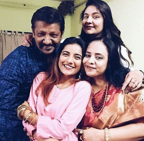 Mrunal Panchal with her family