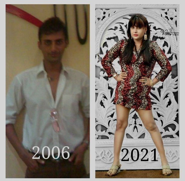 Naaz Joshi before and after the sex reassignment surgery
