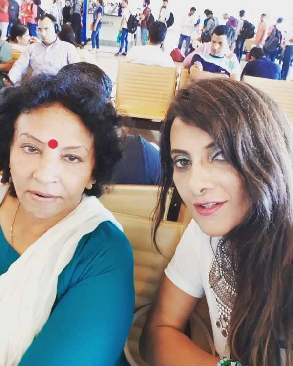 Naaz Joshi with her mother