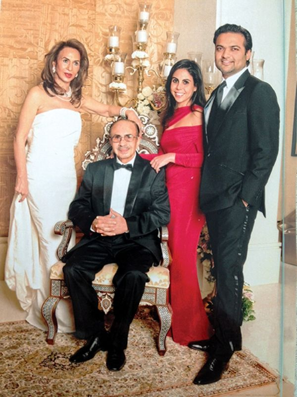 Nisa Godrej with her parents and husband