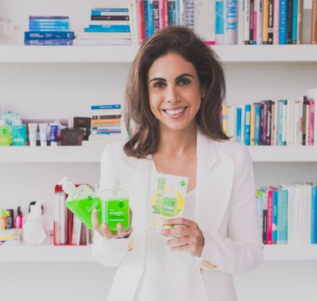 Nisa Godrej with her new products under GCPL