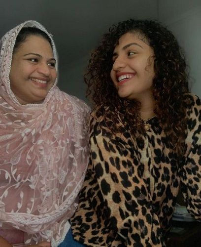 Noorin Shereef and her mother