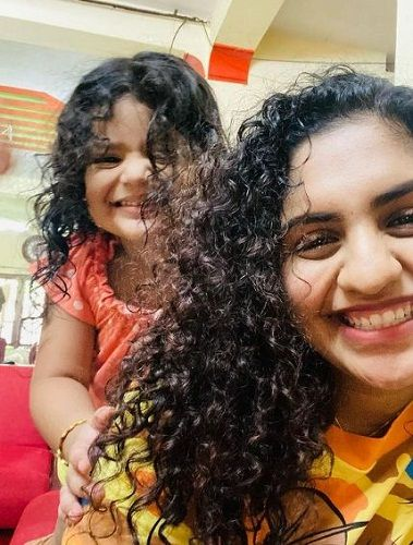 Noorin Shereef with her niece
