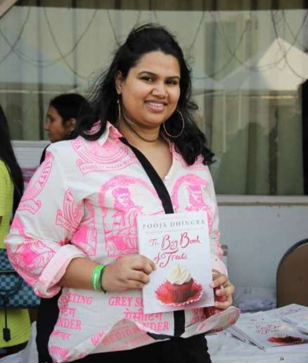 Pooja Dhingra with her book 'The big book of treats'