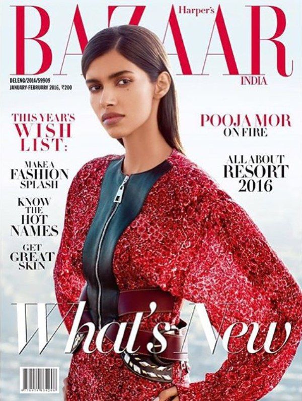 Pooja Mor on the cover of Harper`s Bazaar cover