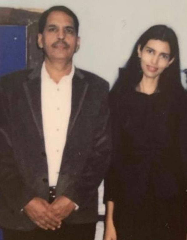 Pooja Mor with her father