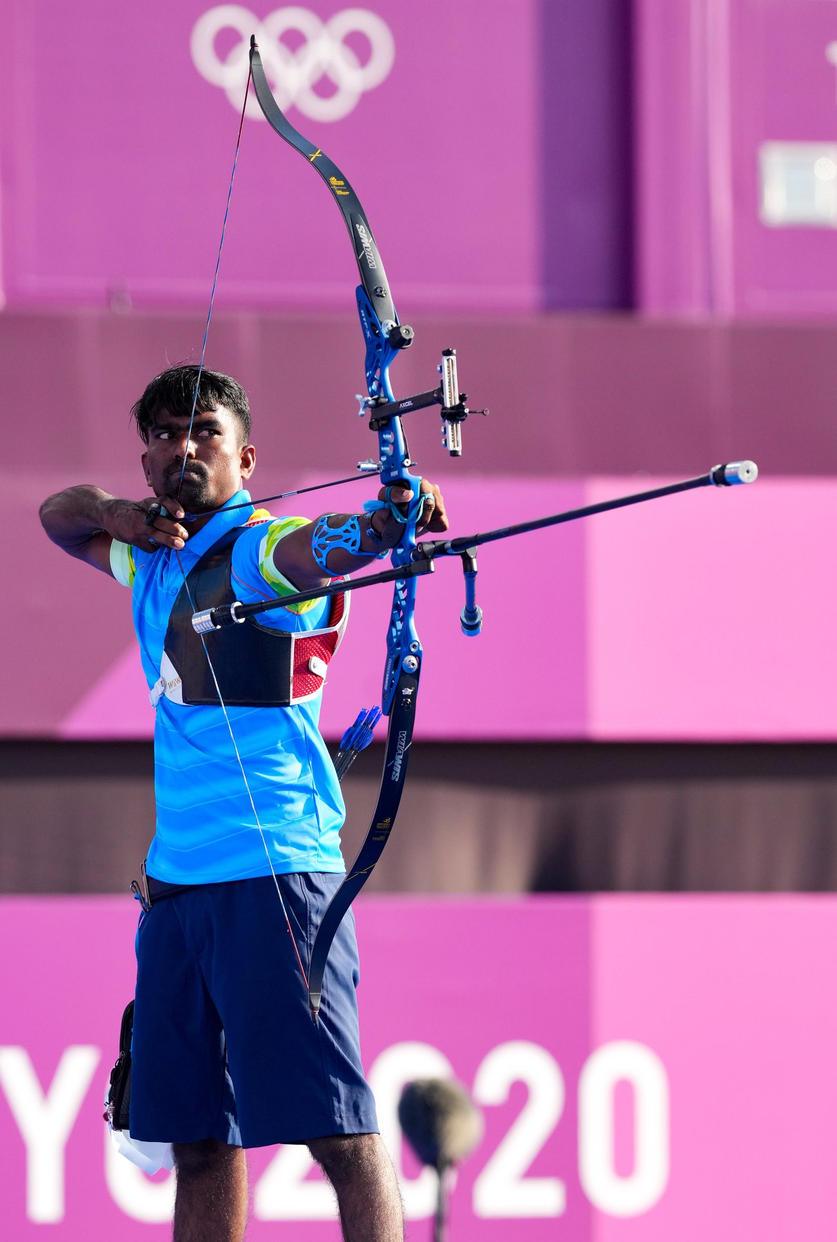 Pravin Jadhav competing in an event