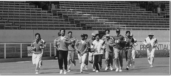 Ramiz Practice session before the 1992 World Cup opening game