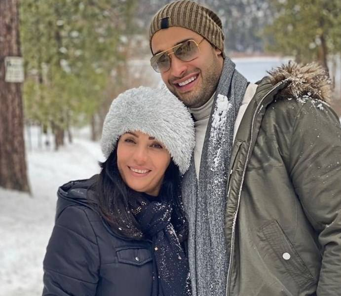 Sam Asghari with his mother
