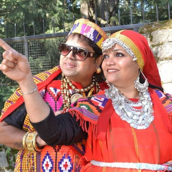 Santosh Chaudhary (Dadus) with his wife