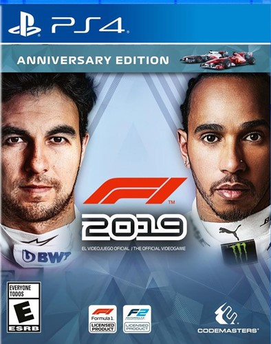 Sergio Perez and Lewis Hamilton on the cover of F1 2019 videogame