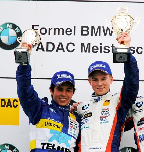 Sergio Perez at the BMW ADAC Series in Germany