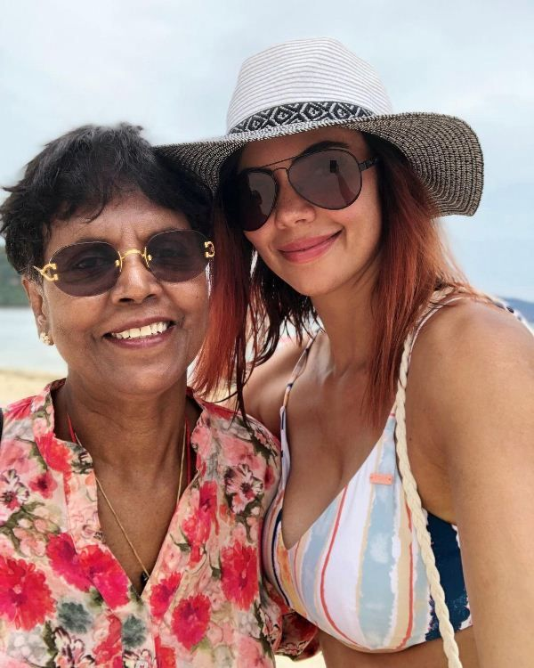 Sharmila Nicollet with her mother