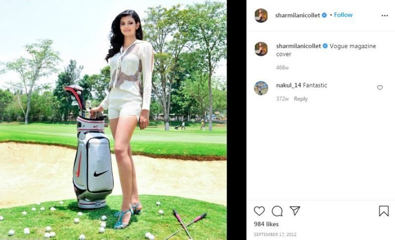 Sharmila Nicollet`s Instagram post on being featured on Vogue Magazine cover