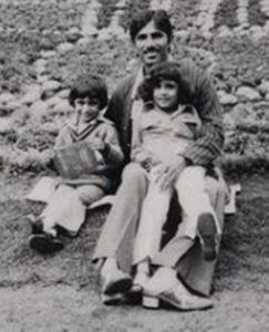 Sheetal Mallar as a child with her father and brother