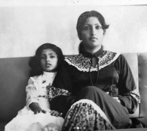 Sheetal Mallar as a child with her mother