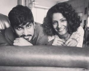 Sheetal Mallar with her brother