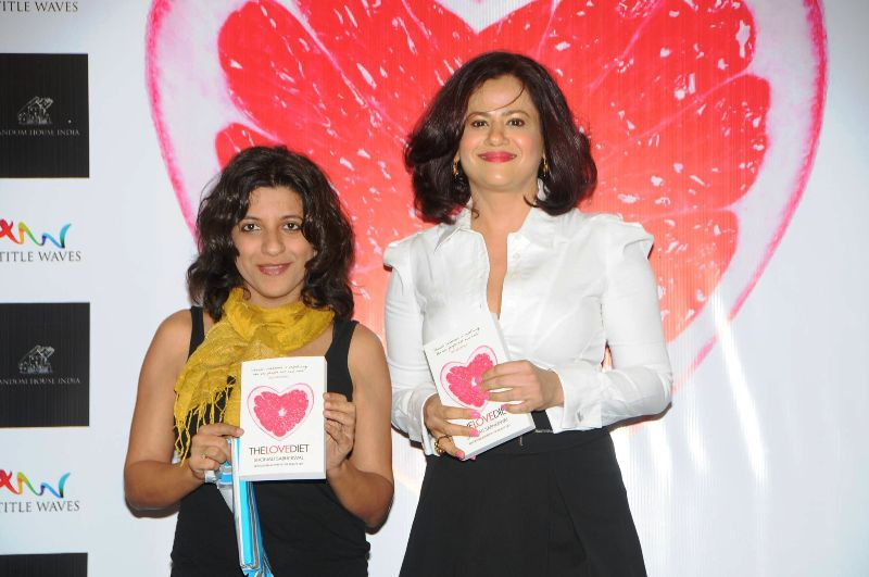 Shonali Sabherwal with Zoya Akhtar at the launch of her book