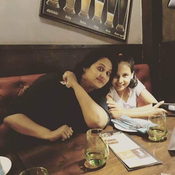 Surekha with her daughter