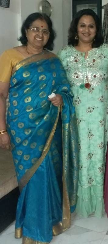 Surekha with her mother
