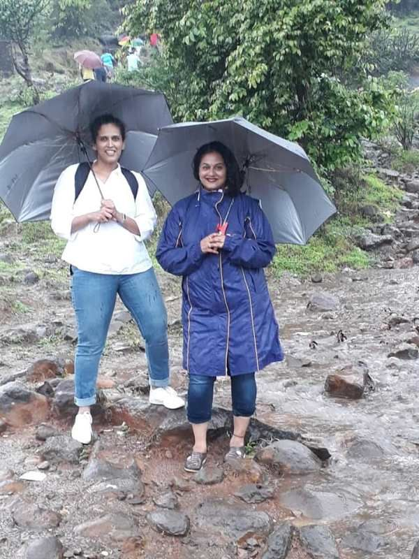Surekha with her sister