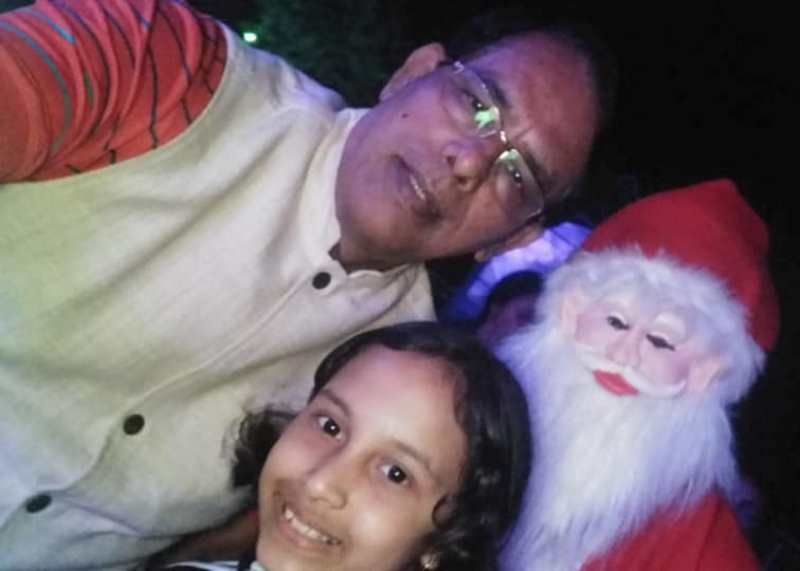 Surekha`s father and daughter