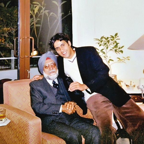 Tavleen Singh's father and son Aatish Taseer