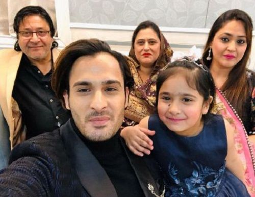 Umar Riaz with his parents, sister, and niece