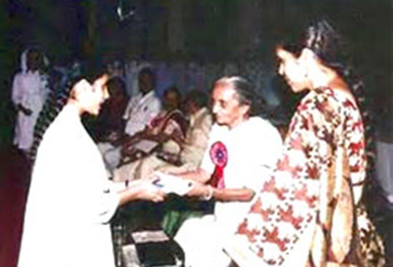 Usha Mehta as a Chief Guest at an event