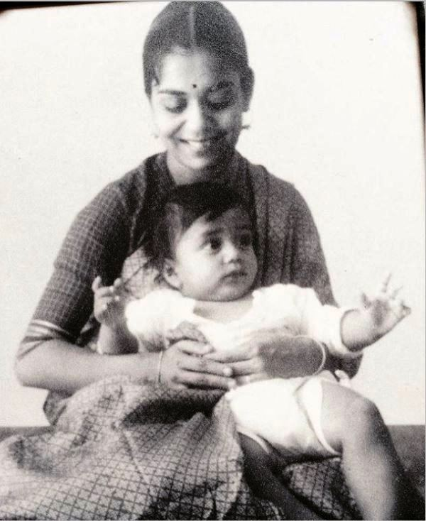 Baby Vir Sanghvi with his mother