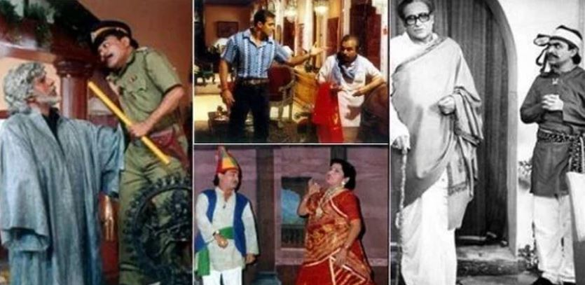 A collage of the scenes of the movies done by Ghanshyam Nayak in Bollywood